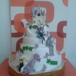 Egyedi, mesés esküvői torta