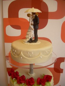 Hagyományos esküvői torta