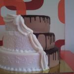 Felemás esküvői torta