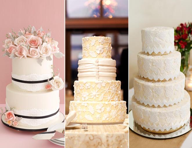 csipkés esküvői torta