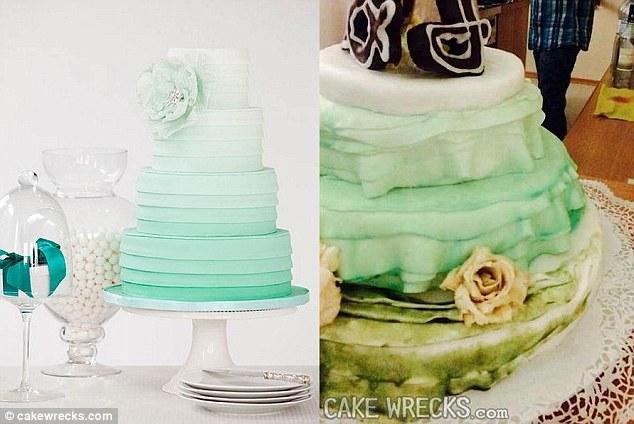 félresikerült esküvői torta
