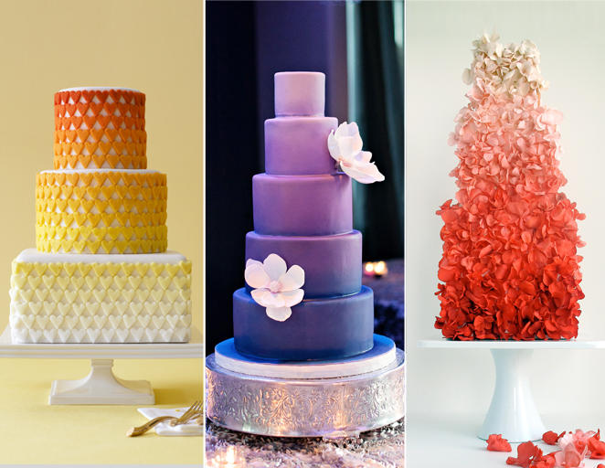 ombre esküvői torta